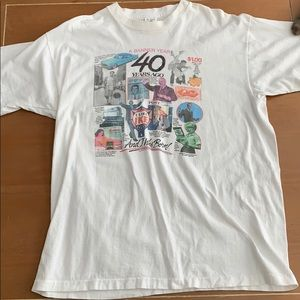 Vintage Fruit of the Loom 40 Years Short Sleeve